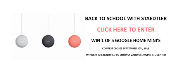 Back to School with Staedtler Contest - Win a Google Home Mini